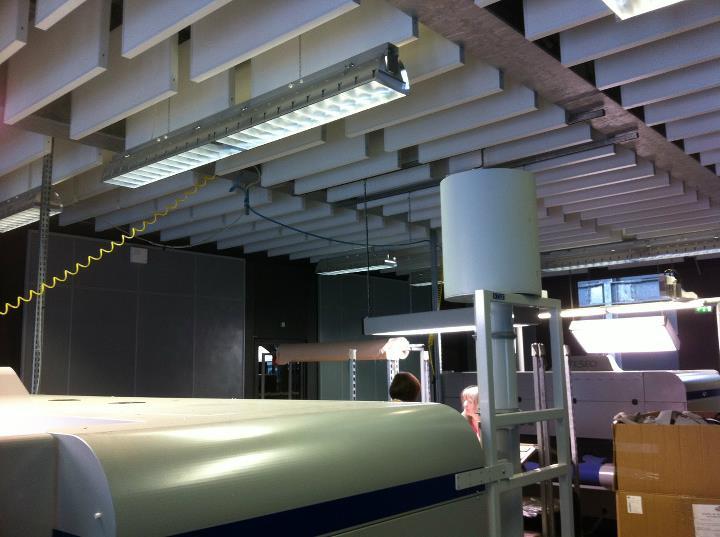 Travaux d'amélioration acoustique réalisés pour l'usine HERMES